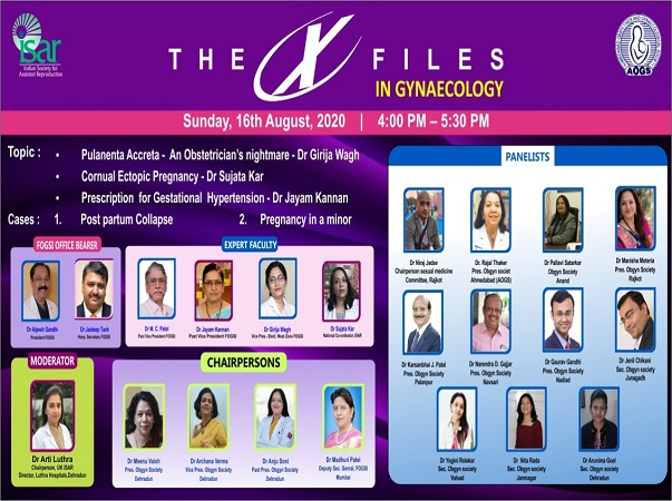 Webinar in The X Files in Gynecology -16th Aug 2020
